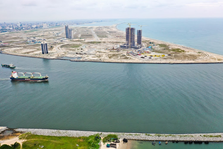 Lagos battles Atlantic erosion caused by building new suburb