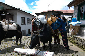 Photo: Loading up in Lukla