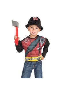 Barndräkt, muskulös brandman 4-6 år