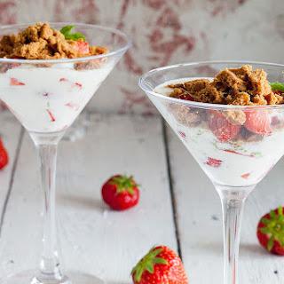 Quark, Strawberry And Coffee Dessert.