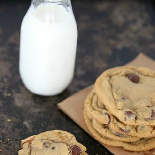 Dulce de Leche Stuffed Chocolate Chip Cookies.