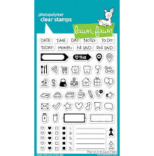 Lawn Fawn Clear Stamps 4X6 - Plan On It