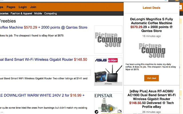 OzBargain Chrome Extension