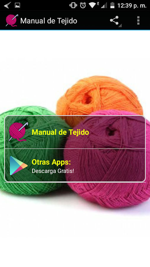 Tejido Crochet- screenshot