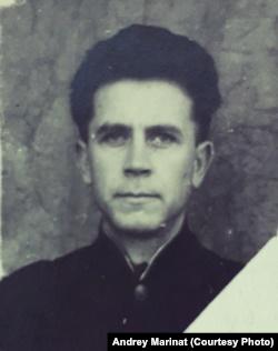 Первая фотография Алексея Марината после освобождения из лагеря, 1954