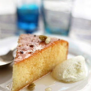 Sticky Greek lemon and yoghurt cake