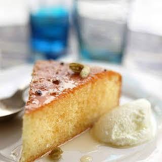 Sticky Greek lemon and yoghurt cake.