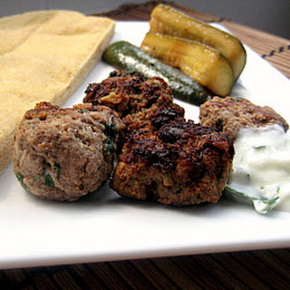 Kefta and Zucchini Kebabs.
