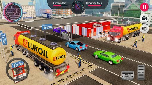 Oil Tanker Transporter Truck Games 2 apktram screenshots 5