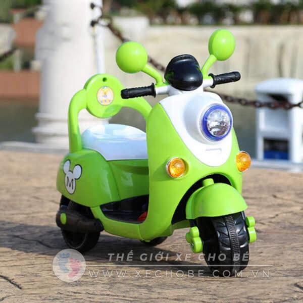 Xe máy điện trẻ em 668B có điều khiển từ xa
