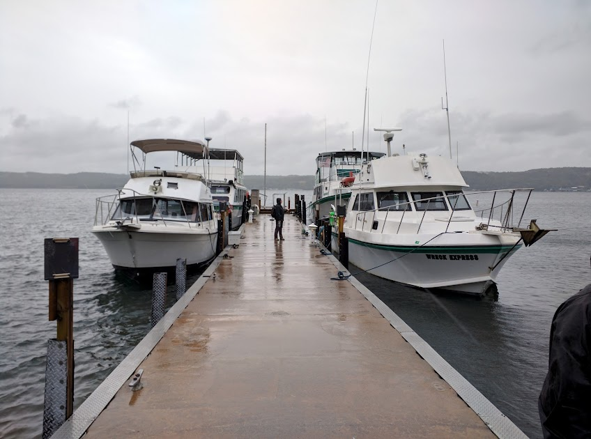 The Boats at Shipwreck Tours, the Hanna Marie, the Miss Munising, the Fireball, and the Wreck Express.  The Wreck Express (Front Right) is our Dive Boat.