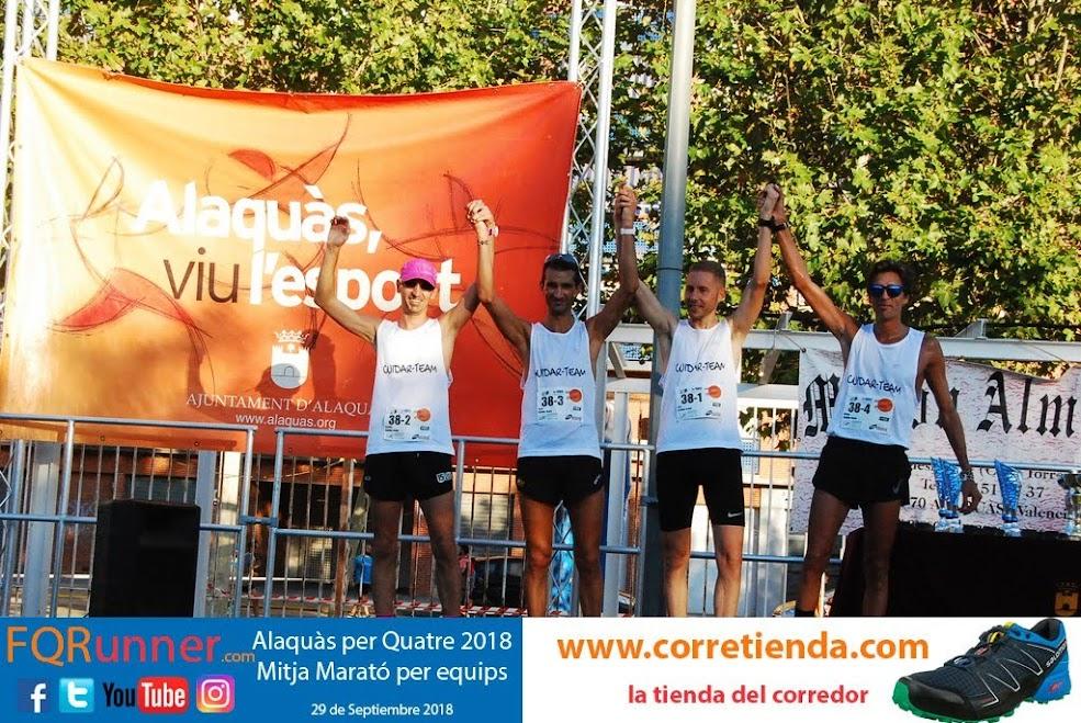 Equipo ganador masculino Media Maratón por equipos Alaquàs 2018