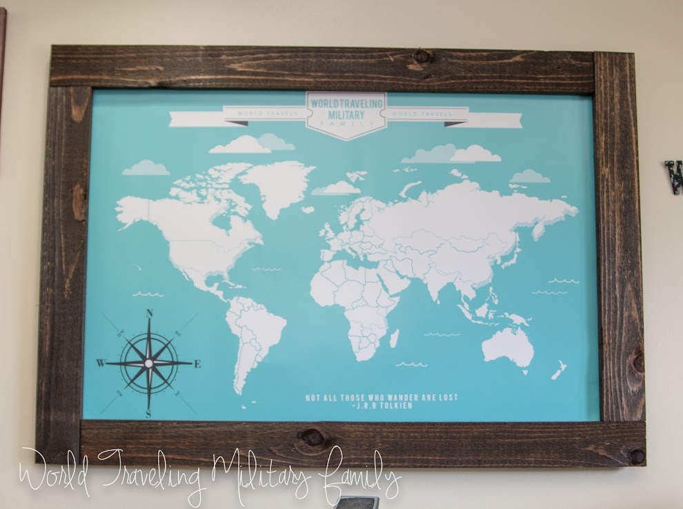 Travel gallery wall travel map art world traveling military family one of the best things about the travel map is that your able to fully customize it to fit you i choose the turquoise color because those are the colors i gumiabroncs Gallery