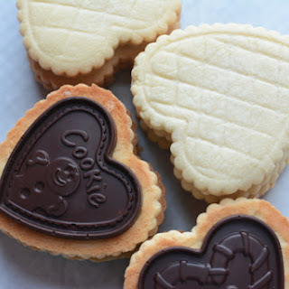 Butter Cookies with Molded Chocolate