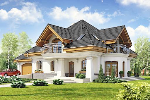 projekt Dzierlatka III styl z garażem 2-st. A