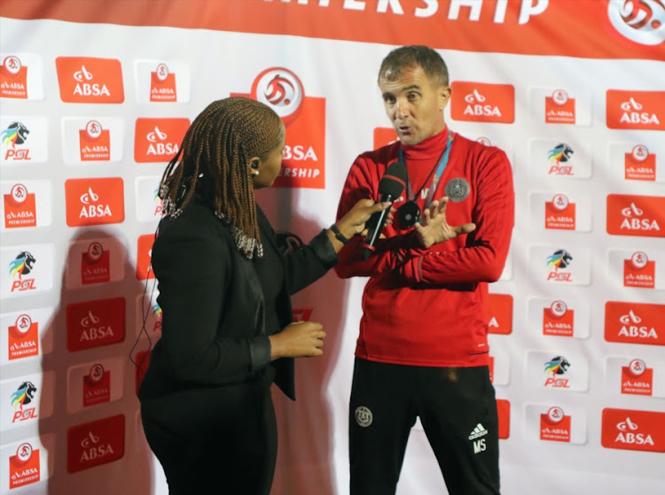 Orlando Pirates' head coach Milutin Sredojevic.