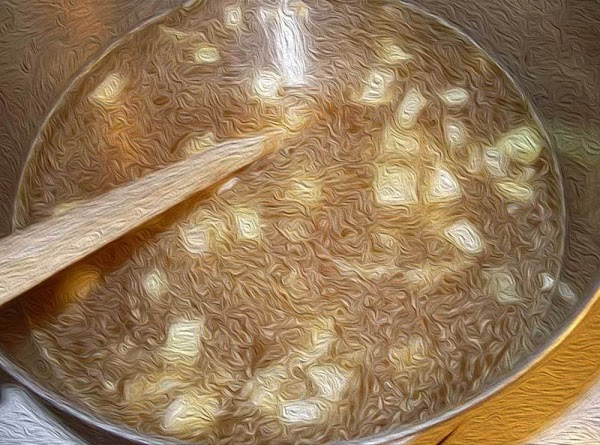 Add one cup of the beef broth or stock, reduce heat to medium, and...