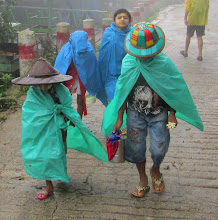 Photo: Year 2 Day 59 - Both Wearing Typical Burmese Hats