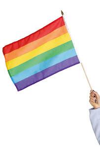 Prideflagga, tyg