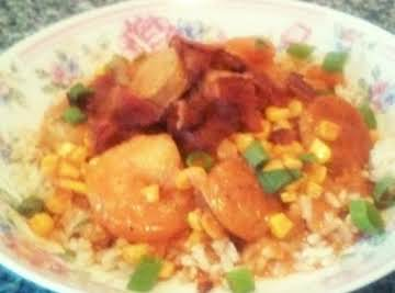 Curry Chicken and Shrimp Stew.