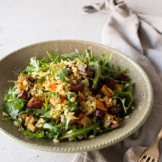 Roasted Vegetable Wheat Berry Winter Salad