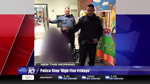 Police halt 'High-Five' Fridays for schoolkids because of illegal aliens' concerns