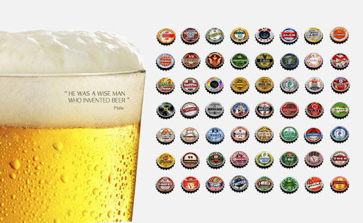 Beer Bottle Caps Theme