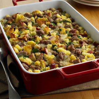 Corn Bread, Sausage and Apple Stuffing.