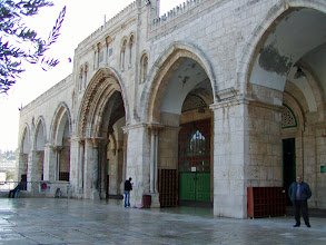 Photo: The mosque is the main site of Islamic worship in Jerusalem and is very crowded on Fridays for noon prayer.
