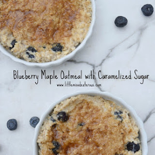 Blueberry Maple Oatmeal with Caramelized Sugar