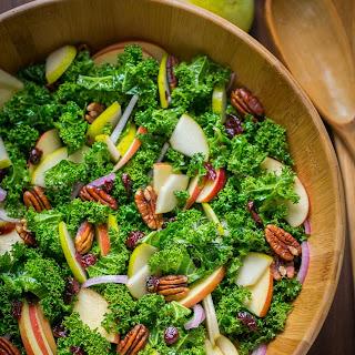 Kale Salad Recipe with Honey Lemon Dressing