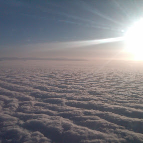 No traffic up here. by Krista Hiller - Landscapes Cloud Formations ( sky. heaven. beautiful. serene. travel. )