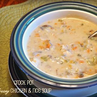 Crock Pot Creamy Chicken & Wild Rice Soup.
