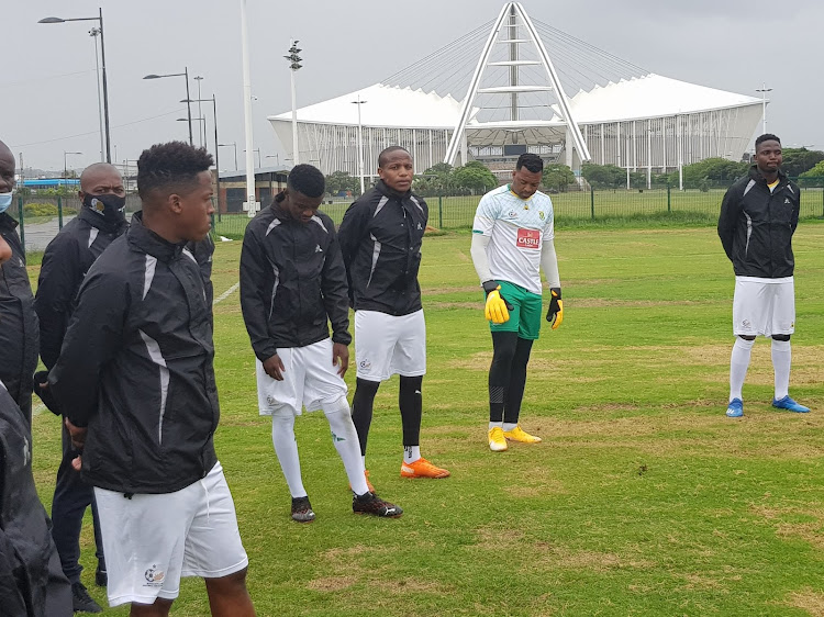 Bafana Bafana players assembled in Durban on Monday November 9 2020.