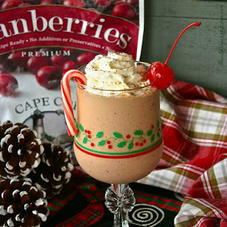 Frosty Chocolate Cranberry Frappe.