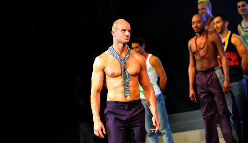 Andreas Derlrth, 32, of New Zealand looks on during the Mr Gay World 2012 contest at the Grand Finale in Johannesburg on 8 April 2012. Andreas, one of 25 Gay from around the world taking part in the competition, was crowned Mr Gay World 2012.