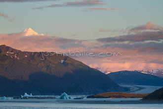 """Photo: Scenic image of the Alsek Lake as seen from the Tashenshini River. The """"Tat"""" flows out of Yukon, CA, through British Columbia and empties into Glacier Bay National Park in Alaska, US."""