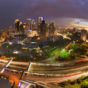 Jakarta Senja by Leo Ramli - City,  Street & Park  Night