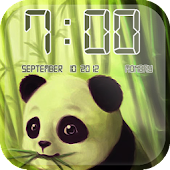 Panda Clock Live Wallpaper