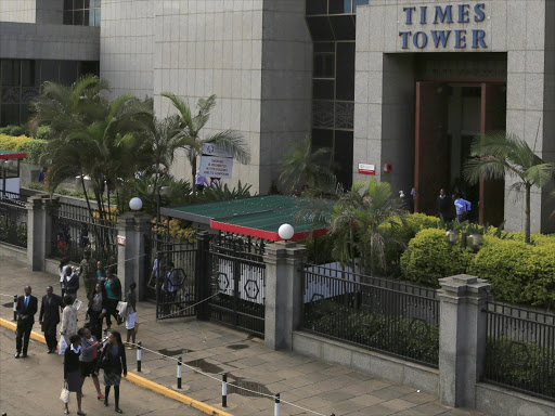 Employees of the Kenya Revenue Authority (KRA) leave the authority headquarters after office hours in Nairobi, November 10, 2015.