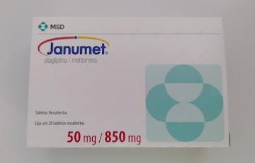 Janumet 50/850Mg   Tabletas Caja x28Tab. MSD Sitagliptina Metformina