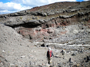 Photo: Look at those layers! St. Helens is a stratovolcano (composite) made of alternating layers of lava and cinders.