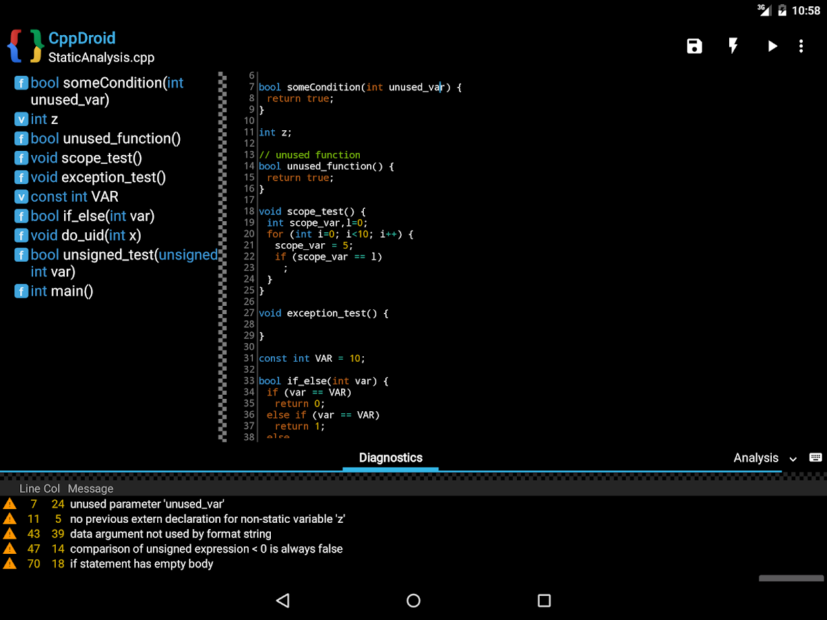 Cppdroid C C Ide Android Apps On Google Play