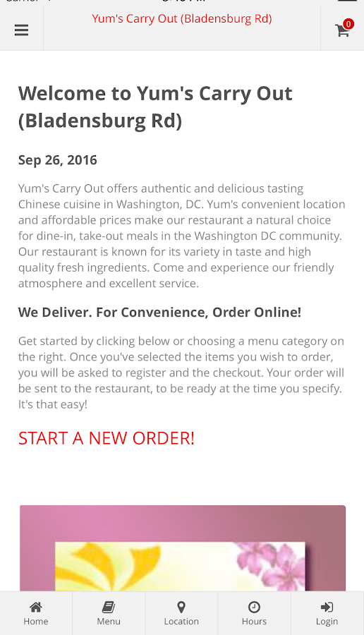 Yum's Carry Out- screenshot