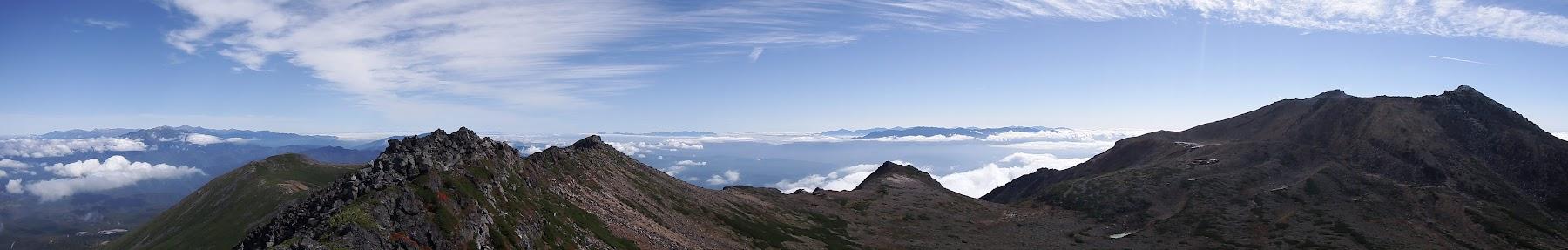 摩利支天山からパノラマ(東側)