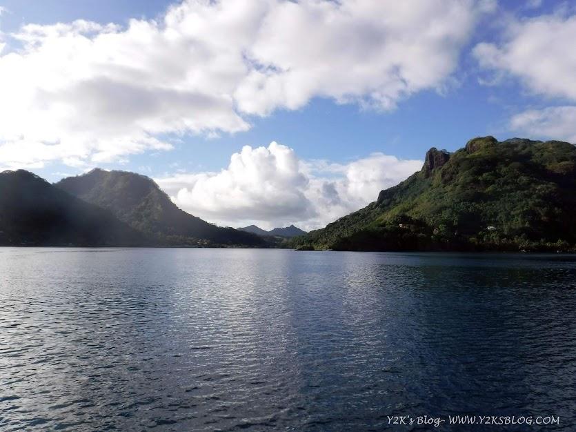 Entrata nella laguna interna di Huahine