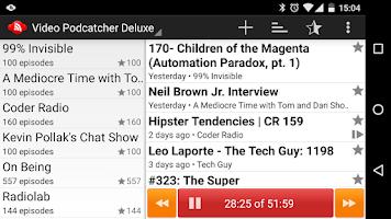 Screenshot of Video Podcatcher Deluxe
