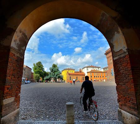 In bici a Ferrara di Justinawind