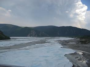 Photo: Buzun altından dere akıyor.
