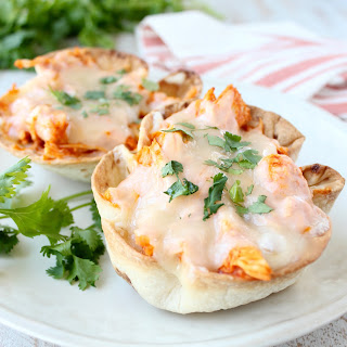 Buffalo Chicken Dip Taco Cups Recipe